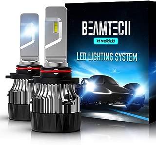 BEAMTECH 9005 LED Headlight Bulbs,30mm Heatsink Base CSP Chips 10000 Lumens HB3 6500K Xenon White Extremely Super Bright Conversion Kit of 2