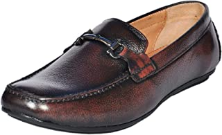 Zoom Brown Slip On Formal Shoes for Men Genuine Leather Without Lace Up Shoe
