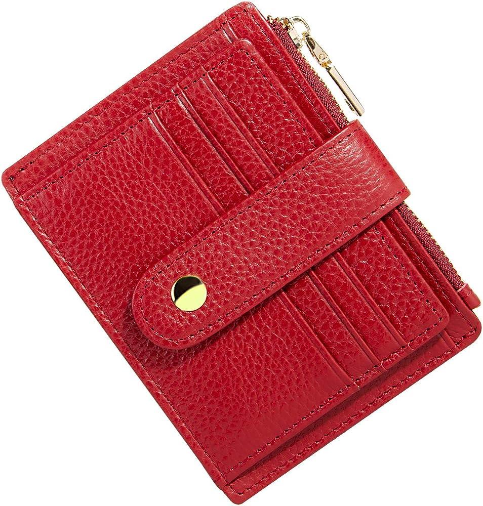 Btneeu, portafroglio, porta carte di credito, per donna, in pelle