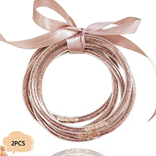 rose gold plumeria bracelet