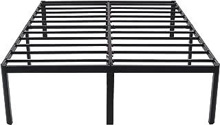 V&LX 18 Inch Tall V1406 UP-Support Deluxe Metal Slat Bed Frame (King), Black
