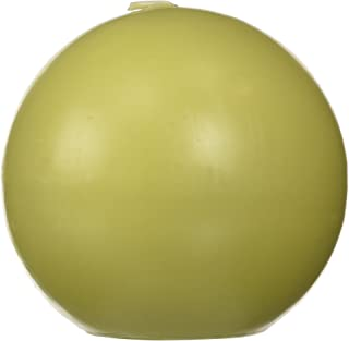 Zest Candle 2-Piece Ball Candles, 4-Inch, Sage Green