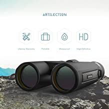 Artilection 12x42 Binoculars for Adults Hunting, Compact Binocular for Kids Bird Watching, High Power Telescope for Travel, Star Gazing and Concerts with BAK4 Prism FMC Lens