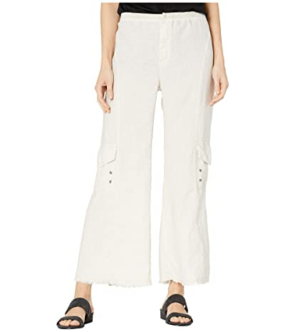 XCVI Rustic Cargo Crop Pants in Linen (Toasted Almond) Women