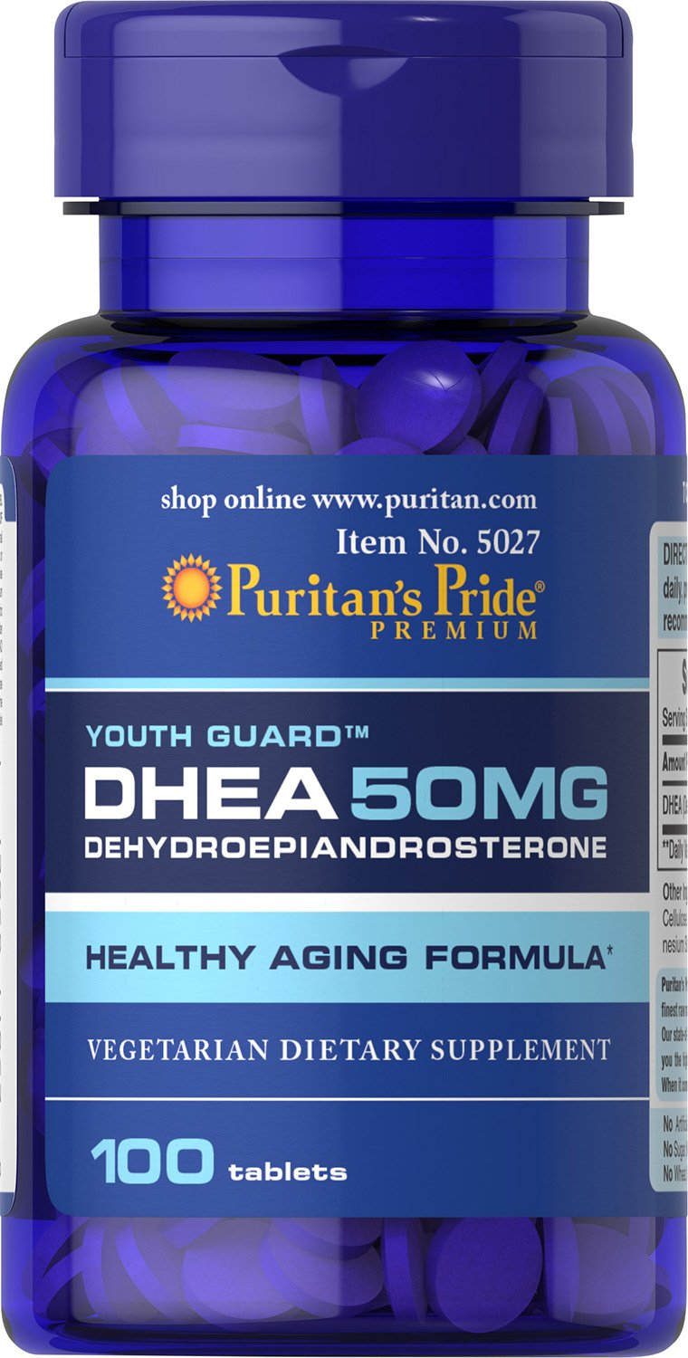 Puritans Pride Dhea Tablets Count