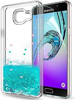 520d756b970 LeYi Compatible con Funda Samsung Galaxy A5 2016 Silicona Purpurina Carcasa  con HD Protectores de Pantalla