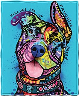 Dawhud Direct Rescues are My Favorite Breed Fleece Throw Blanket by Dean Russo