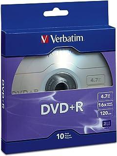 Verbatim DVD+R 4.7GB 16x Recordable Media Disc - 10 Disc Box, Purple - 97956