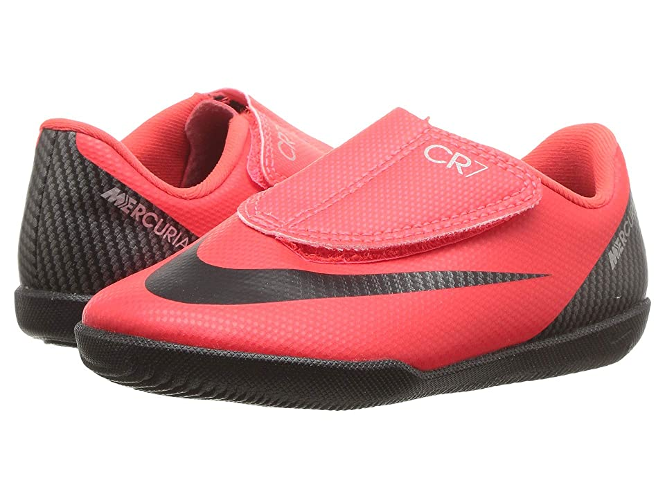 Nike Kids VaporX 12 Club PS V CR7 IC Soccer (Toddler/Little Kid) (Bright Crimson/Black/Chrome) Kids Shoes