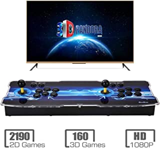 [2350 HD Retro Games] 3D Pandoras Box Arcade Video Game Console 1080P Game System with 2350 Games Supports 3D Games (Black) 1920x1080