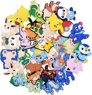 32 Pièces Charmes de Chaussure de PVC, Shoe Charms for Cartoon Pokemon Shoes, PVC Shoes Decor pour Bracelet Wristband Kids...