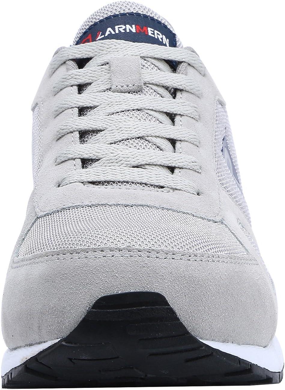 LARNMERN Scarpe Antinfortunistiche da Uomo Punta in Acciaio Sneakers da Lavoro Leggere ed Eleganti
