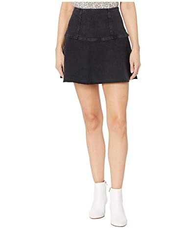 Free People Highlands Denim Skirt (Black) Women
