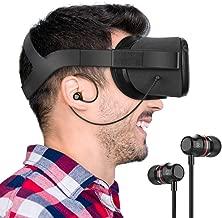 KIWI design Oculus Quest Headphones, Stereo Earbuds Custom Made In-Ear Earphones for Oculus Quest VR Headset (Black, 1 Pair)