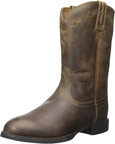 Ariat - Chaussures occidentales Heritage Roper Roper Lacer Hommes, 42 M EU, Distressed marron