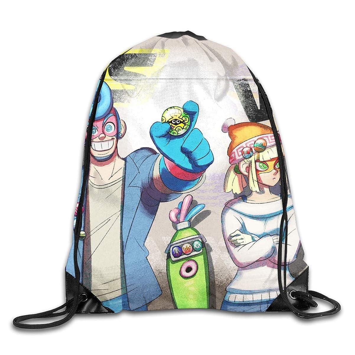 パーセント建物下るARMS 3 ジムサック ナップサック ライトバック 通学 運動 旅行に最適 メンズ レディース 兼用 バッグ 防水仕様 巾着袋 軽量