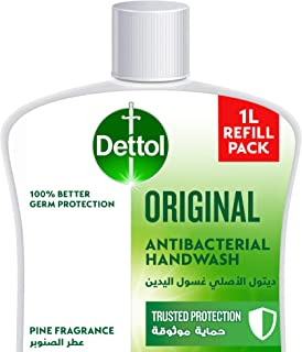 Dettol Original Handwash Liquid Soap Refill for effective Germ Protection & Personal Hygiene (protects against 100 illness...