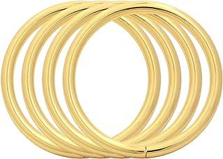 confezione da 10 BIKICOCO 5 cm in metallo ovale fibbia ad anello anello anello anello non saldato per borse borse borse borse cinghie nero