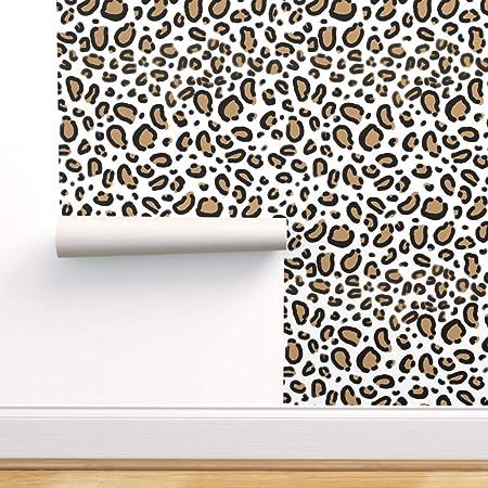 Black // Tan Leopard//Cheetah Print Peel /& Stick Border Self Adhesive Frieze