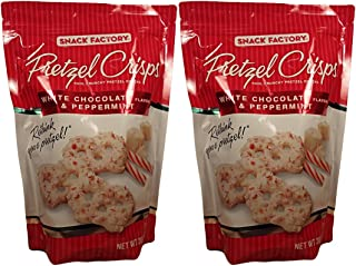 Snack Factory White Chocolate and Peppermint Pretzel Crisps 2-Pack