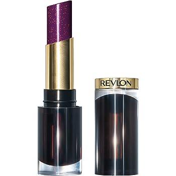 Revlon Super Lustrous Glass Shine Lipstick, Moisturizing Lipstick with Aloe and Rose Quartz in Plum, 013 Sleek Mulberry, 0.15 oz