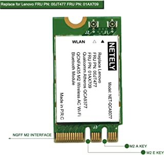 NETELY Wireless Network Adapter for Laptop-NGFF M2 Wi-Fi Card-802.11AC 1x1 MIMO2.4GHz 150Mbps 5GHz 433Mbps Bluetooth 4.1-M...