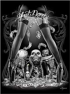 Last Dance Strip Club See Hear Speak No Evil Poster 18 x 24 By David Gonzales Art DGA