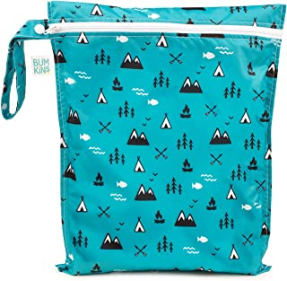 Bumkins Waterproof Wet Bag, Washable, Reusable for Travel, Beach, Pool, Stroller, Diapers, Dirty Gym Clothes, Wet Swimsuits, Toiletries, Electronics, Toys, 12x14 – Outdoors