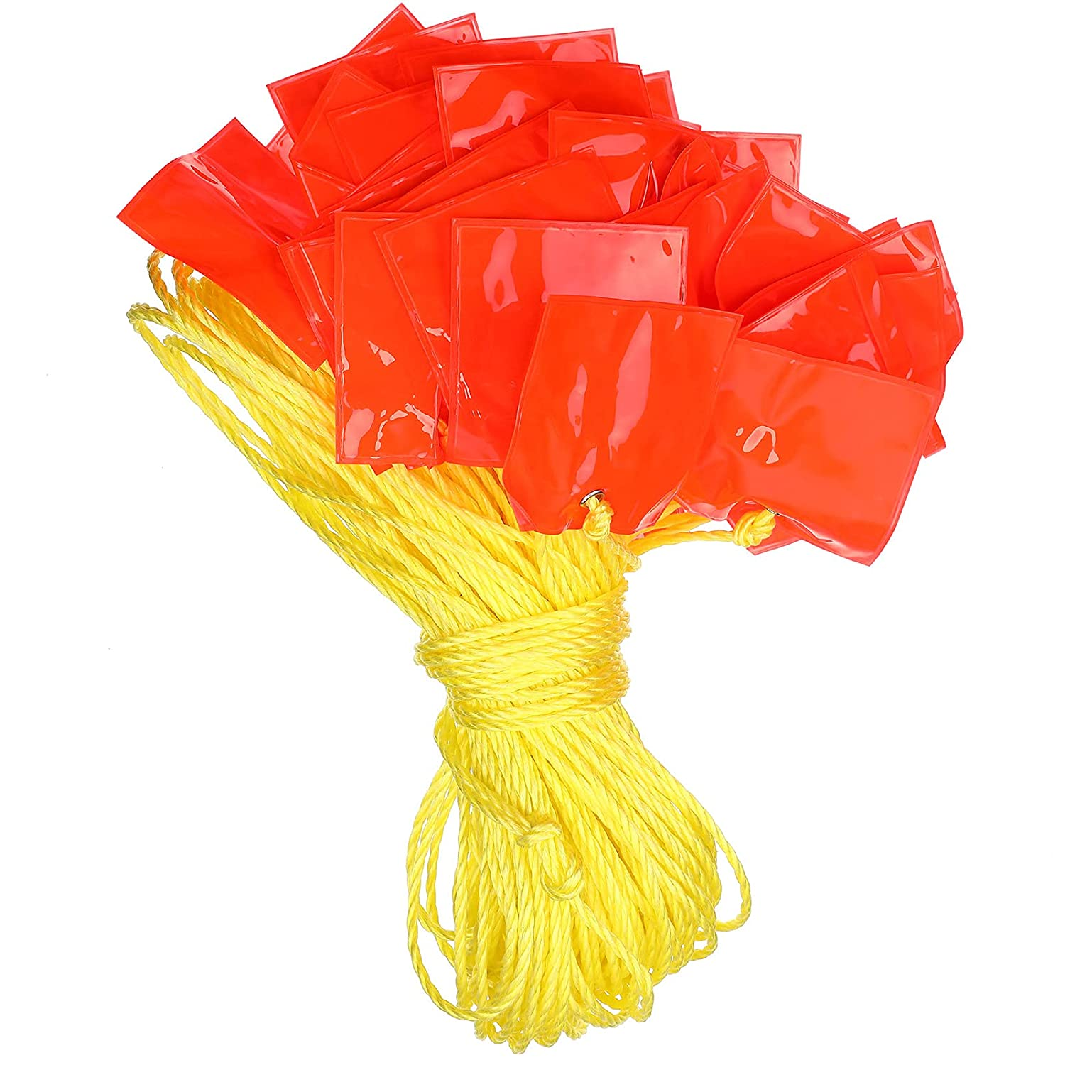 164 Feet Safety Warning Pennant Marker with 45 Pieces Four-corne