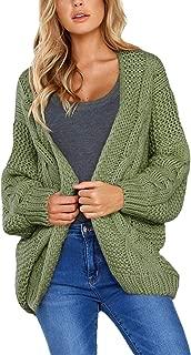Women's Casual Dolman Sleeve Open Front Knit Cardigan Sweaters S-XXL