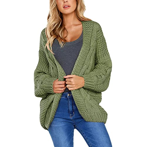 360e7d1eef Happy Sailed Womens Open Front Chunky Wide Knitted Cardigan