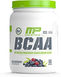 MusclePharm Essentials BCAA Powder, Post-Workout Recovery Drink, Blue Raspberry, 60 Servings