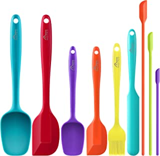 Hotec 4 pieces Silicone Spatulas Kitchen Utensils for Baking Cooking Mixing Heat Resistant Non Stick Cookware Food Grade B...