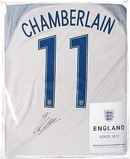 Icons.com Alex Oxlade-Chamberlain Official England Back Signed 2016-17 Home Shirt: Number 11