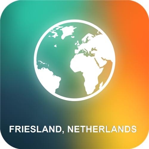 Frisia, Países Bajos Mapa