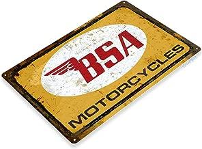 Tinworld TIN Sign C260 BSA Motorcycles Rustic Retro Garage Auto Shop Store Sign