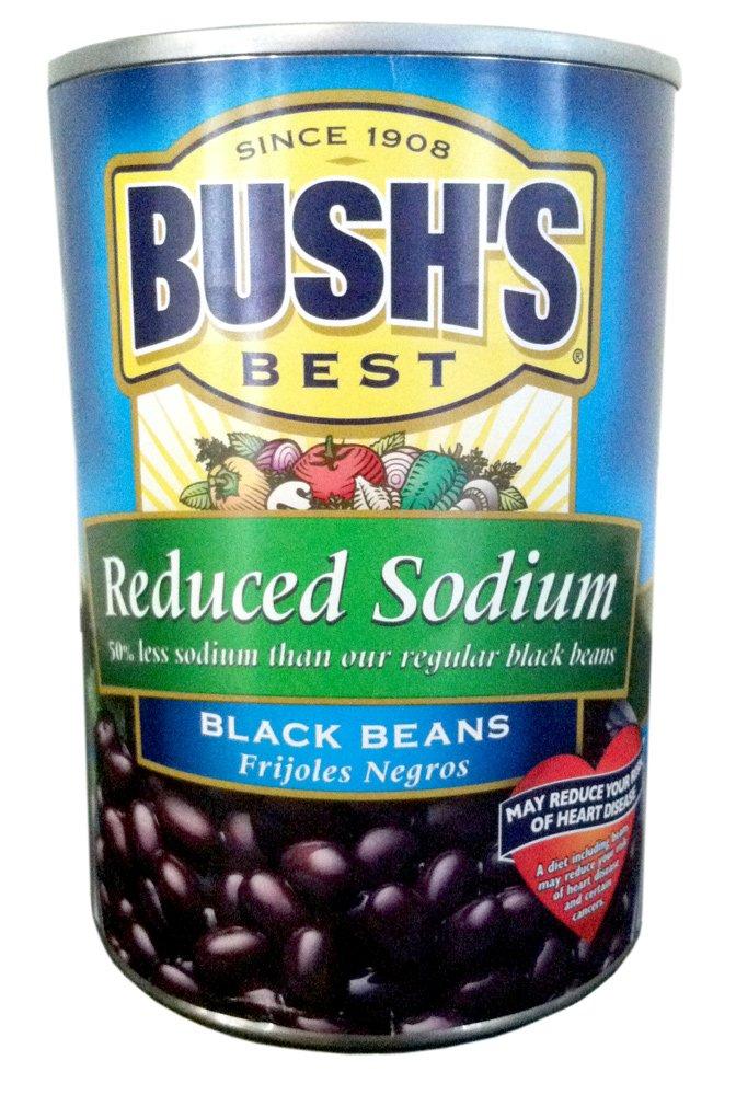 Bush's Best Cheap sale REDUCED SODIUM BLACK BEANS 15oz Pack 10 Fresno Mall