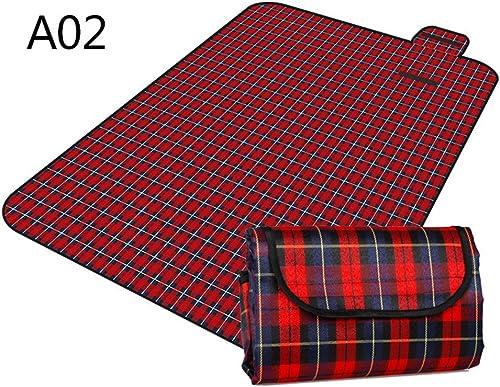 GUJJ Tapis de pique-nique en plein air pad humidité portable épais pique-nique Excursions tapis imperméable tissu Oxford ,pelouse un02-200150cm Mat