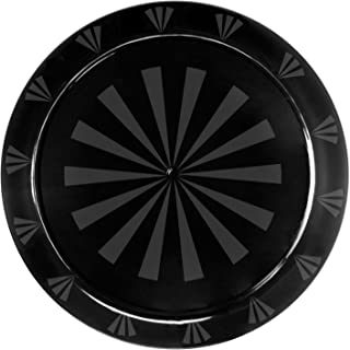 Party Essentials Hard Plastic 16-Inch Round Serving Tray, Black, Single Unit