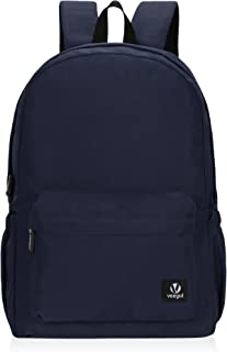 Veegul Lightweight School Backpack Classic Bookbag for Girls Boys Navy Blue