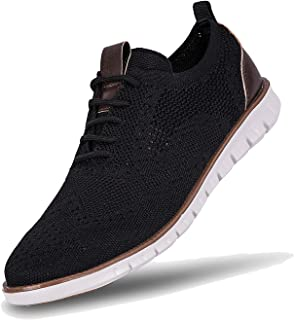 Sponsored Ad - NEDAWM Mens Casual Sneakers Dress Shoes Mesh Wingtip Oxford Shoes Breathable Lightweight Outdoor Walking Shoes