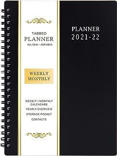"2019-2020 Planner Academic - برنامه ریز هفتگی و ماهانه، جولای 2019 - ژوئن 2020، جلد انعطاف پذیر، برگه های ماهانه 12، 21 یادداشت صفحات، اتصال دو طرفه با جیب دو طرفه، 5 ""x 8"""