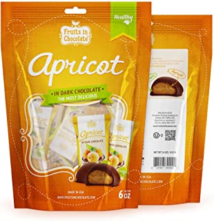 Dark Chocolate Covered Apricots, 6 Oz Bag