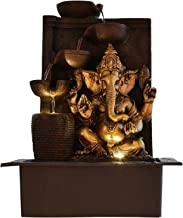 Chronikle Ganesha Polystone Indoor Outdoor 5 Step Water Fountain With Led Lights