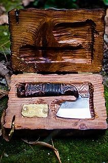 Straight razor warrior axe in Viking Celtic Nordic style Free Shipping anniversary men's gift shaving kit