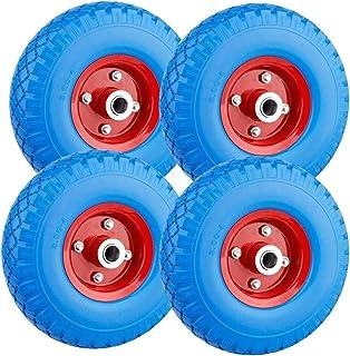 Forever Speed 2 x PU wiel pechproof kruiwagenwiel massief rubber wiel blauw met 100 kg draagvermogen Ø260 mm / 3.00-4 ,ban...