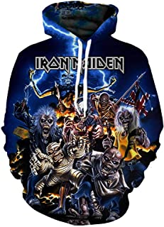 iron maiden all over print hoodie