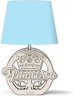 Lampada bimbo bimba CON CORONA little prince little princess personalizzabile con nome - Idea regalo nascita, battesimo, p...