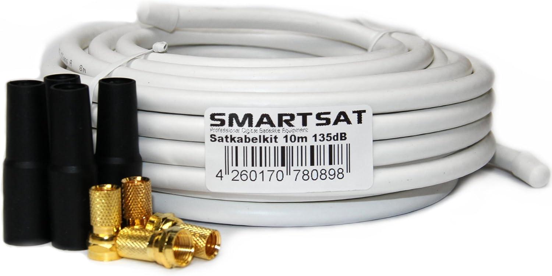 Smartsat 10m 135db Kupfer Koaxial Kabel 8 2mm Elektronik