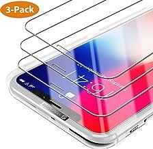 Syncwire Verre Trempé iPhone X/XS [Lot de 3] avec Cadre d'installation et Kits, Film Protection Ecran Vitre HD Dureté 9H pour iPhone XS/X [Incassable, sans Bulles, 3D-Touch, Face ID Protégé]